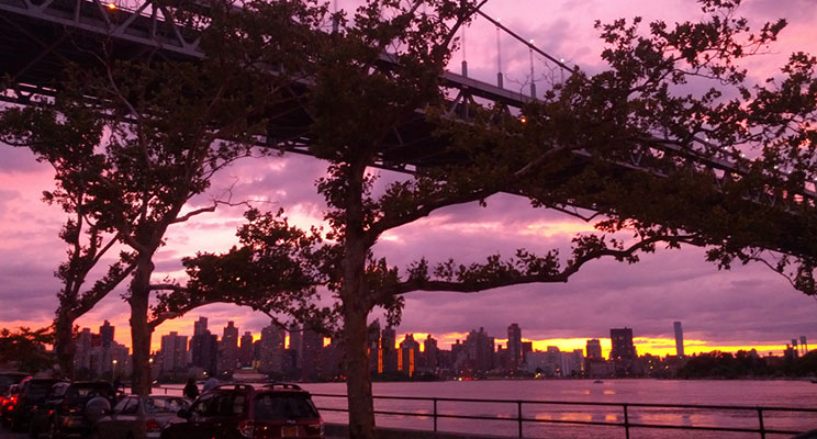 Triboro Bridge at Sunset From Astoria Park Photo: Catherine Favorite