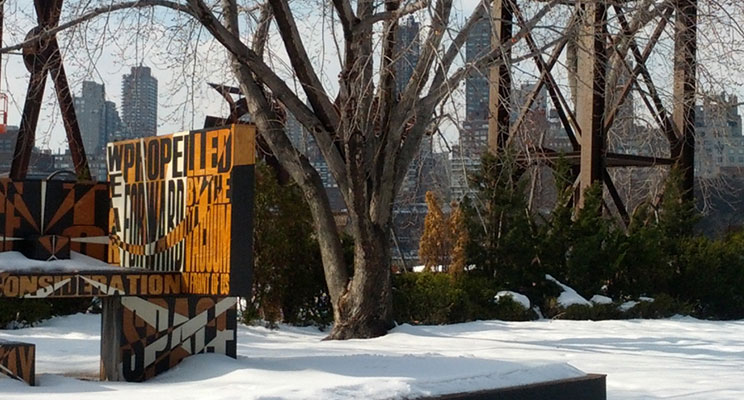 Wintertime in Socrates Sculpture Park in Long Island City, New York Photo: Catherine Favorite