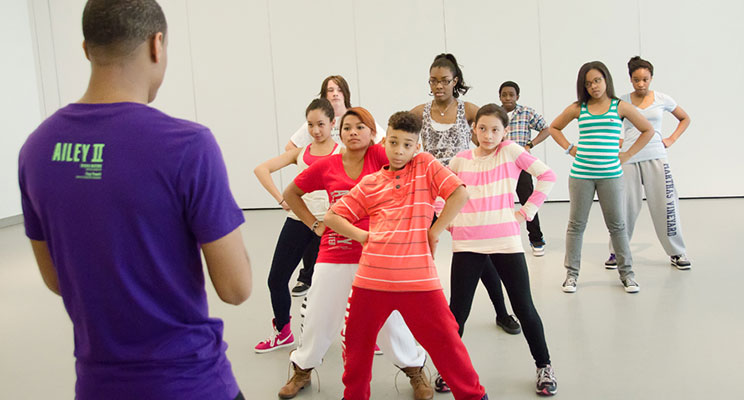 Teen Hip-Hop Class at the Ailey Extension Photo: Kyle Froman